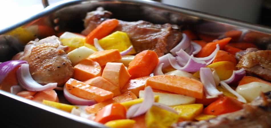 γαλοπούλα με λαχανικά