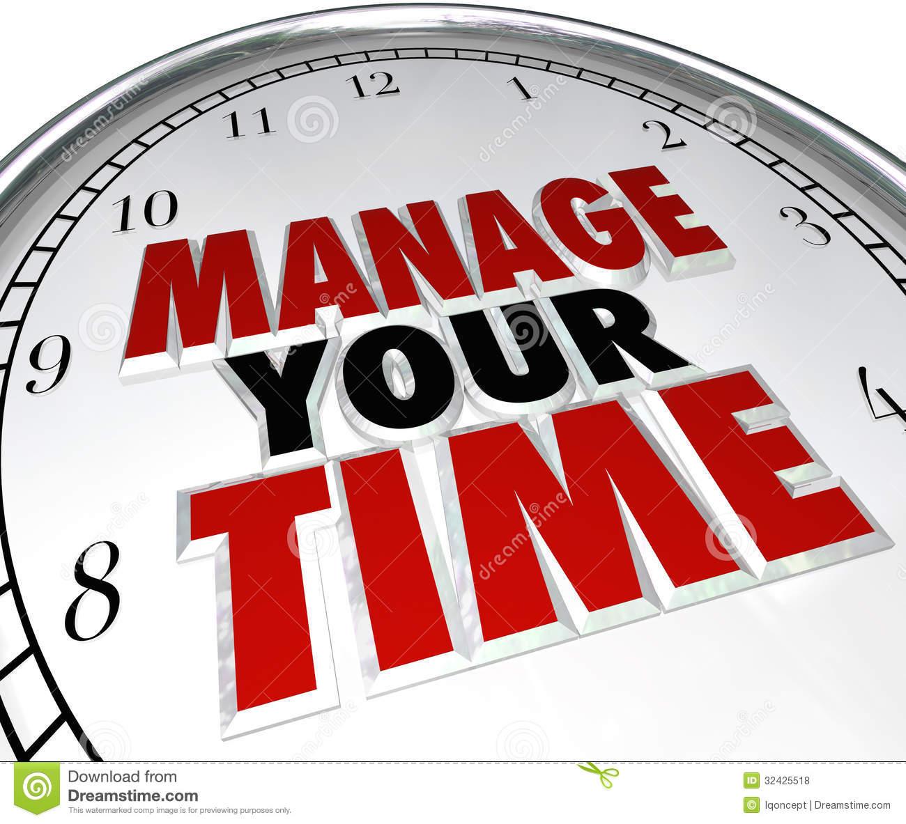 χρόνος, διαχείριση χρόνου